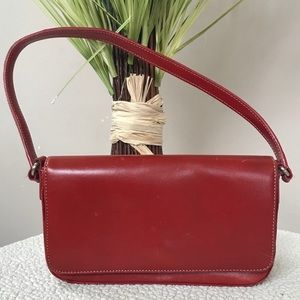 Small Red Leather Vintage FOSSIL1954 Bag